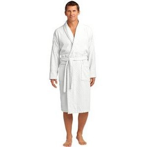 Port Authority® Checkered Terry Shawl Collar Robe