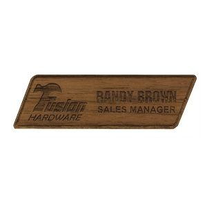 Texture Tone™ Custom Wood Name Badges