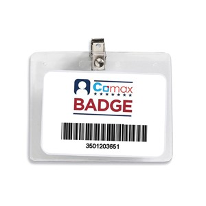 """Blue Ash V"" Clear Badge Holder (3-1/2""x 2-1/4"" Insert)"