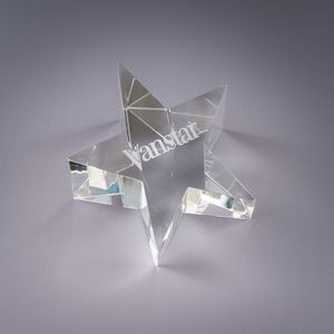Optic Star Crystal Paperweight