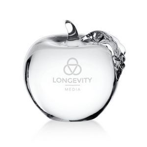 Apple with Clear Leaf 2¾""