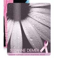 "Breast Cancer Awareness 3.5"" x 5"" Laminated Card Stock Lanyard Card"